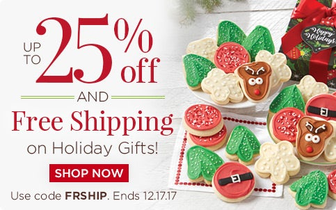 Up to 25% off and Free Shipping