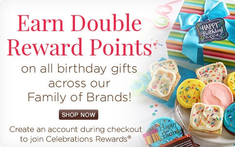 Double Points on all Birthday Gifts