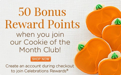 Buttercream Frosted Cookie club with 50 bonus reward points!