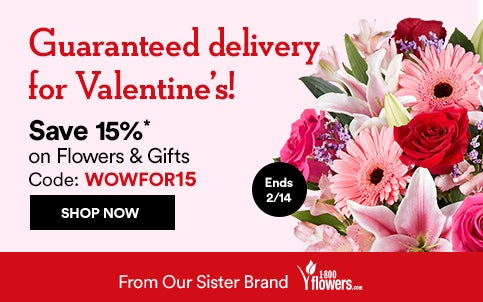 Save 15% on Flowers and Gifts