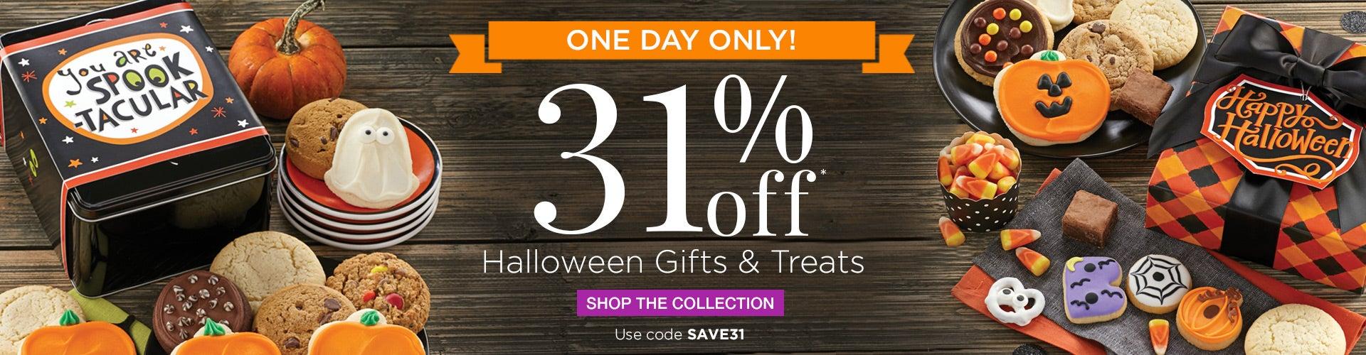 31% off Halloween Cookies