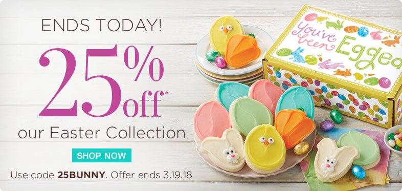 Take 25% off Easter Gifts