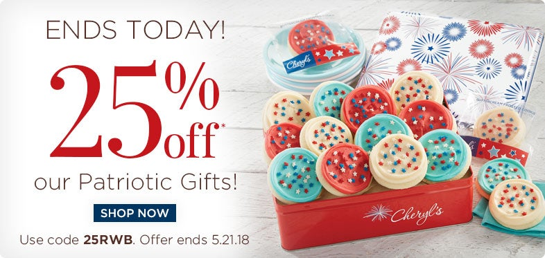 25% off Patriotic Gifts