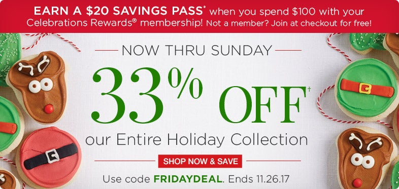 33% off Holiday Collection