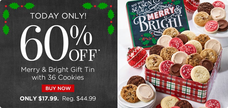 60% off Merry and Bright Gift Tin