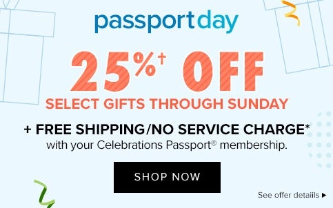 Passport Day 25% off Savings