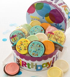 Musical Birthday Gift Tin - Frosted Cookies