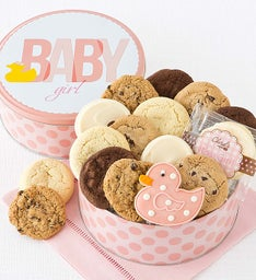 Welcome Baby Girl Gift Tin - Classic Assortment