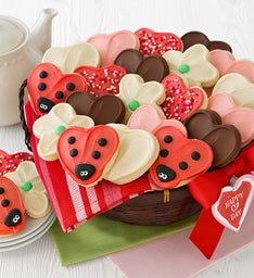 Valentine Cut-out Cookie Gift Basket