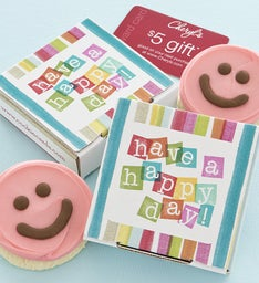 Have a Happy Day Cookie Card - Pink