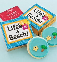 Lifes A Beach Cookie Card